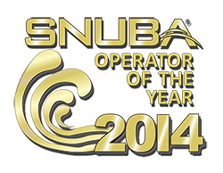 Destin Snorkel is the 2014 SNUBA Operator of the year!