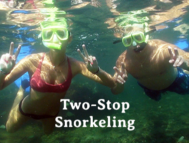Two-stop snorkeling tour
